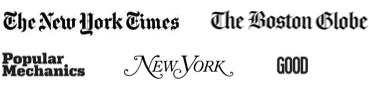 The New York Times, The Boston Globe, GOOD, Popular Mechanics, New York
